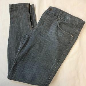 Joe's Jeans Blue Striped Jeans - Size 28